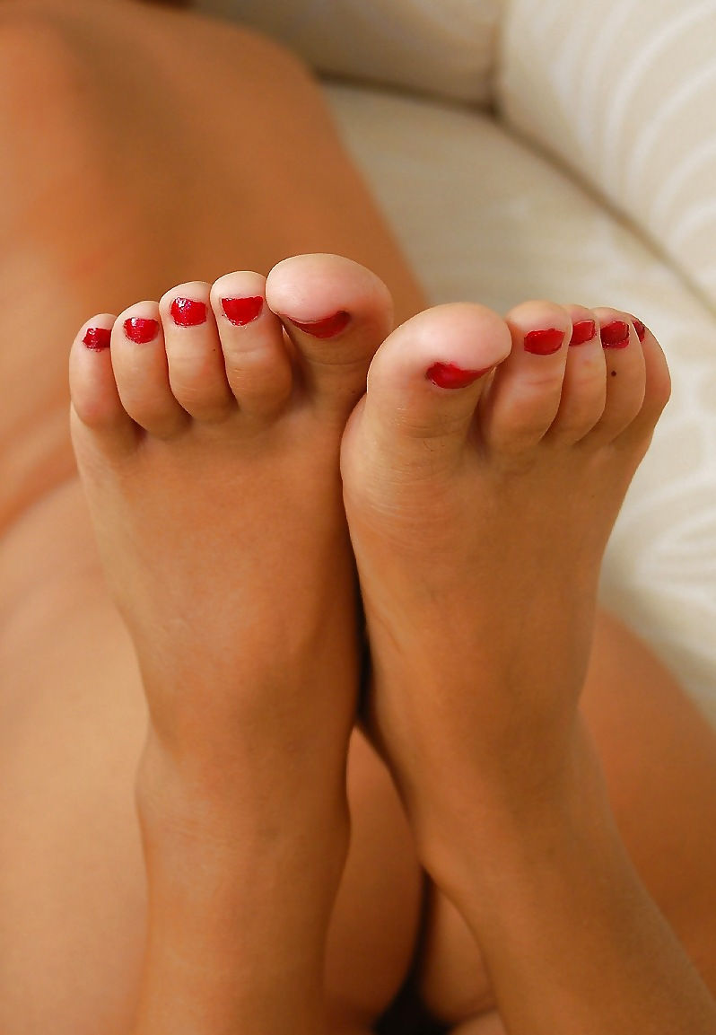 Foot foreplay stock photo footage