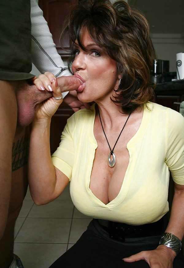 Hot busty milf blowjob