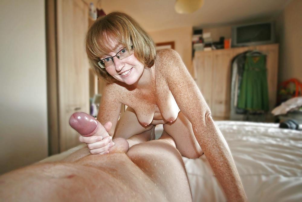 Mature handjob wife