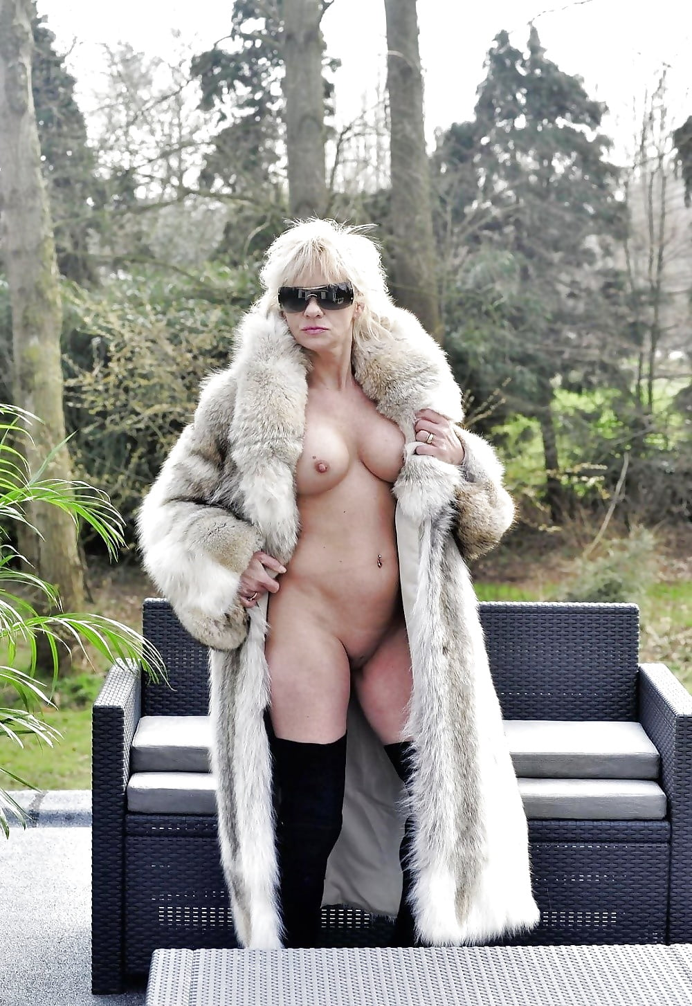 Nude in fur porn, cute girl in dress has sex