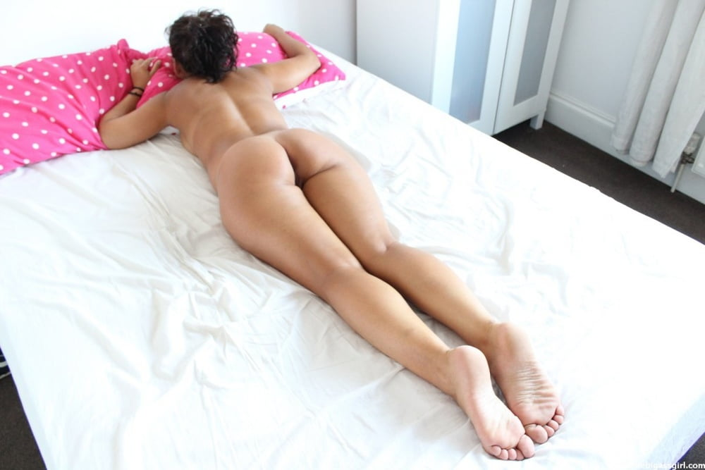 Young woman laying on side showing ass thierry tits