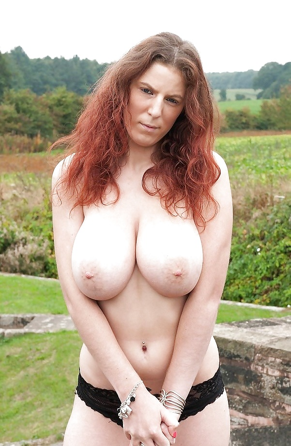 Big Tit Redhead Milf Loves Sucking Cock