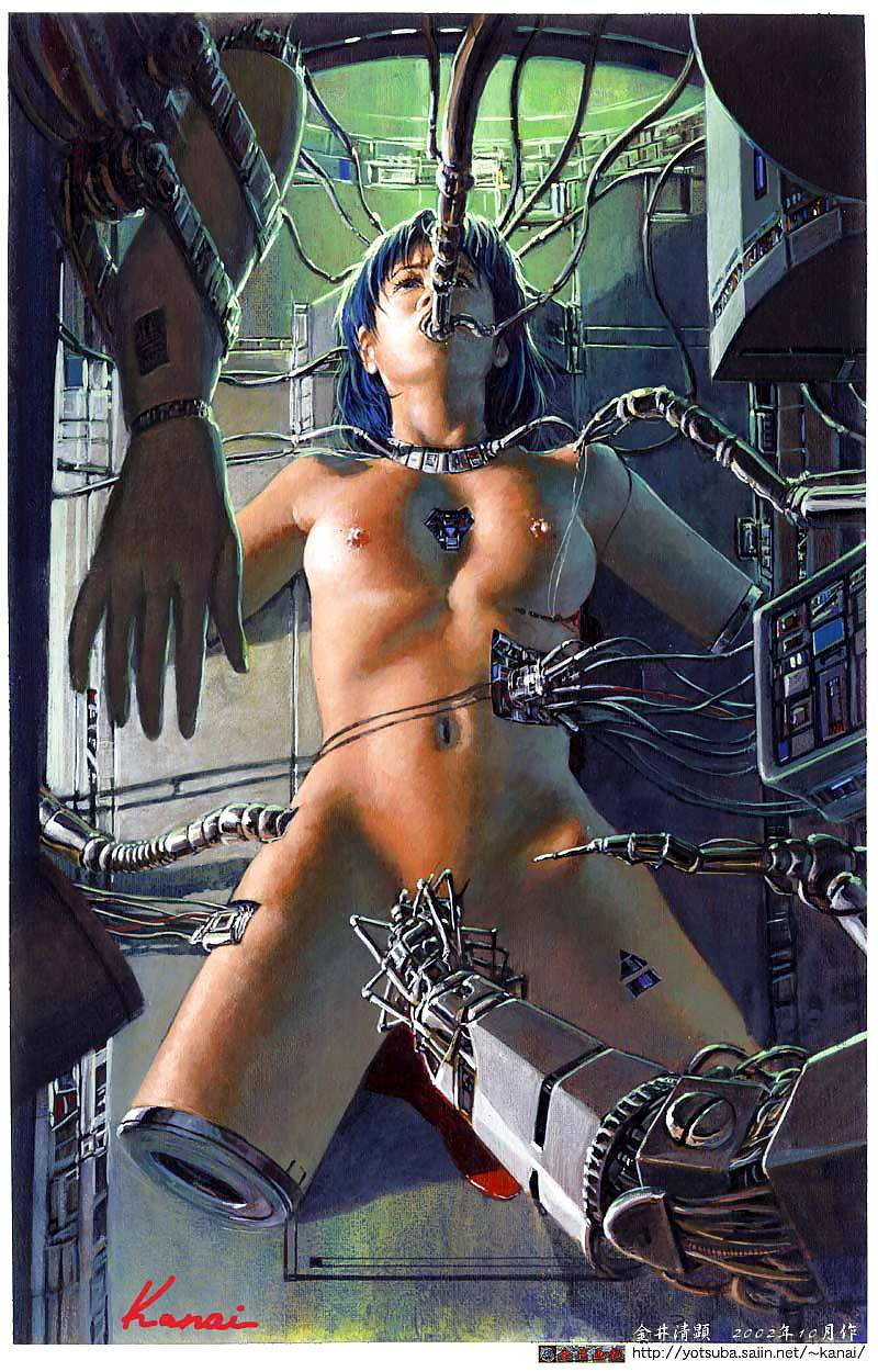 Секс с искусственной киборг женщиной #13
