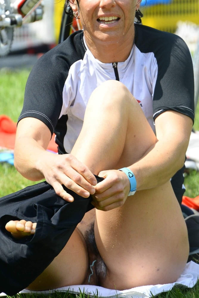 Sports girls upskirts wet panties