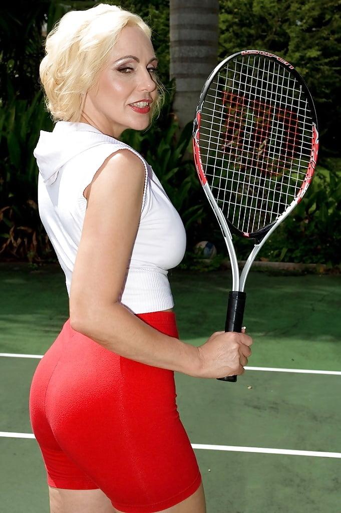 Milf playing tennis