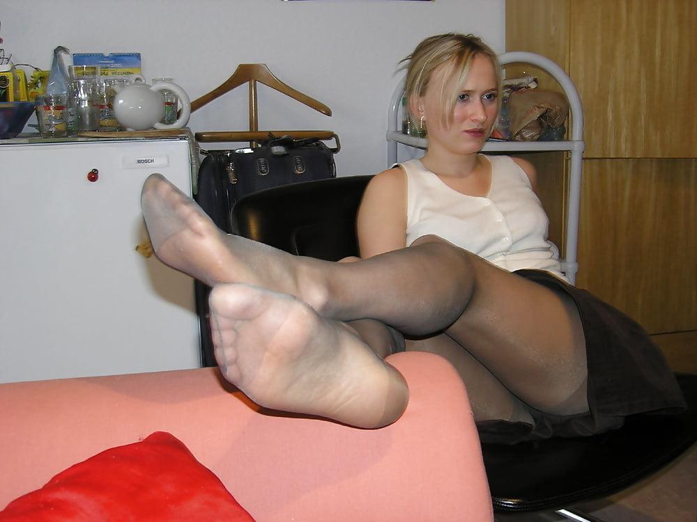 Mom masturbating son in pantyhose
