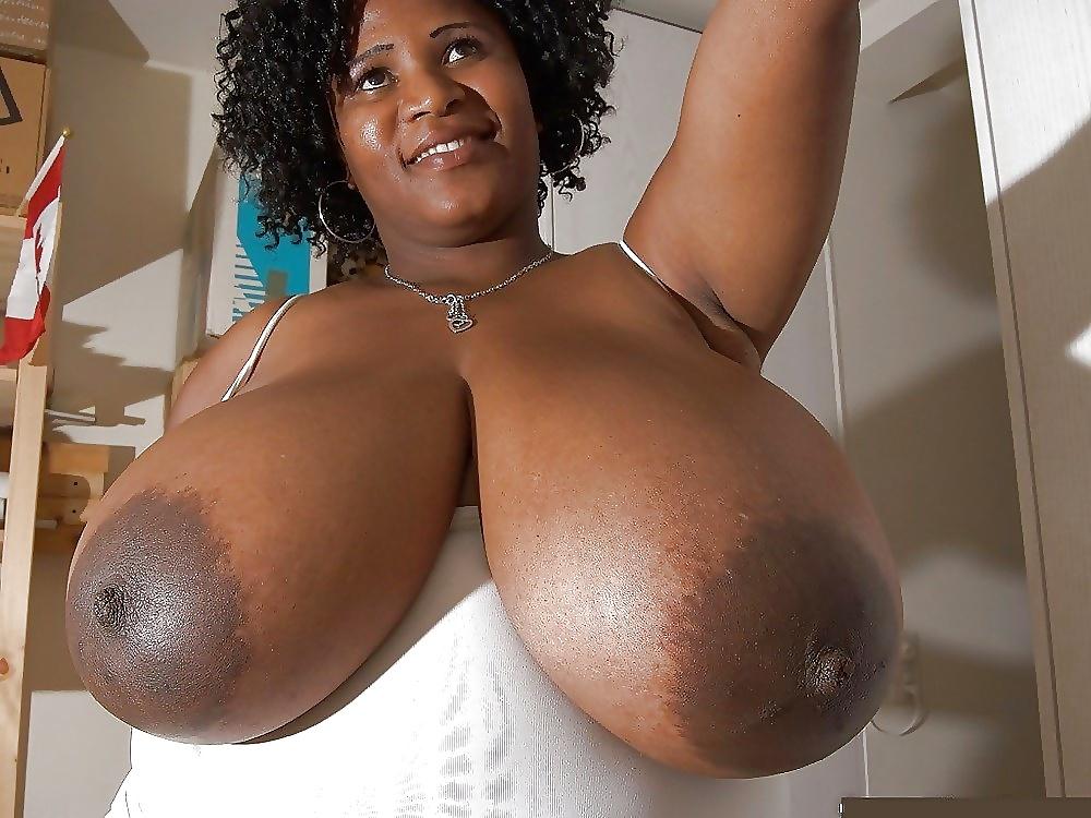 Big black tits on pics