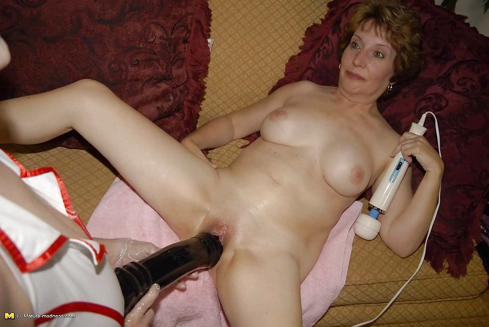 Fucking her sex toy
