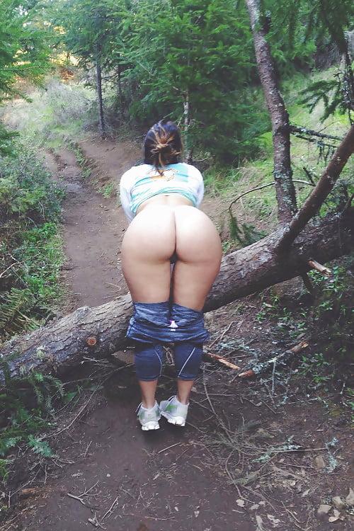 Naked public exhibitionist