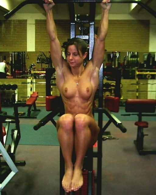 Nude amateur women in the gym #15