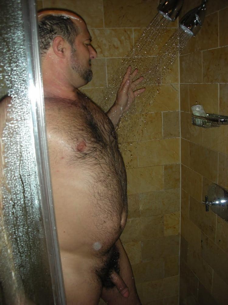 Hairy Men Alone In Shower