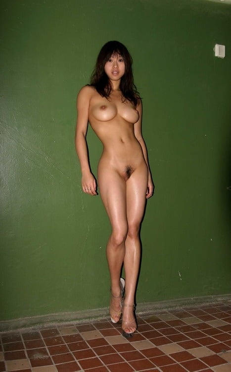 Tall asian woman nude, inside brunettes pussy