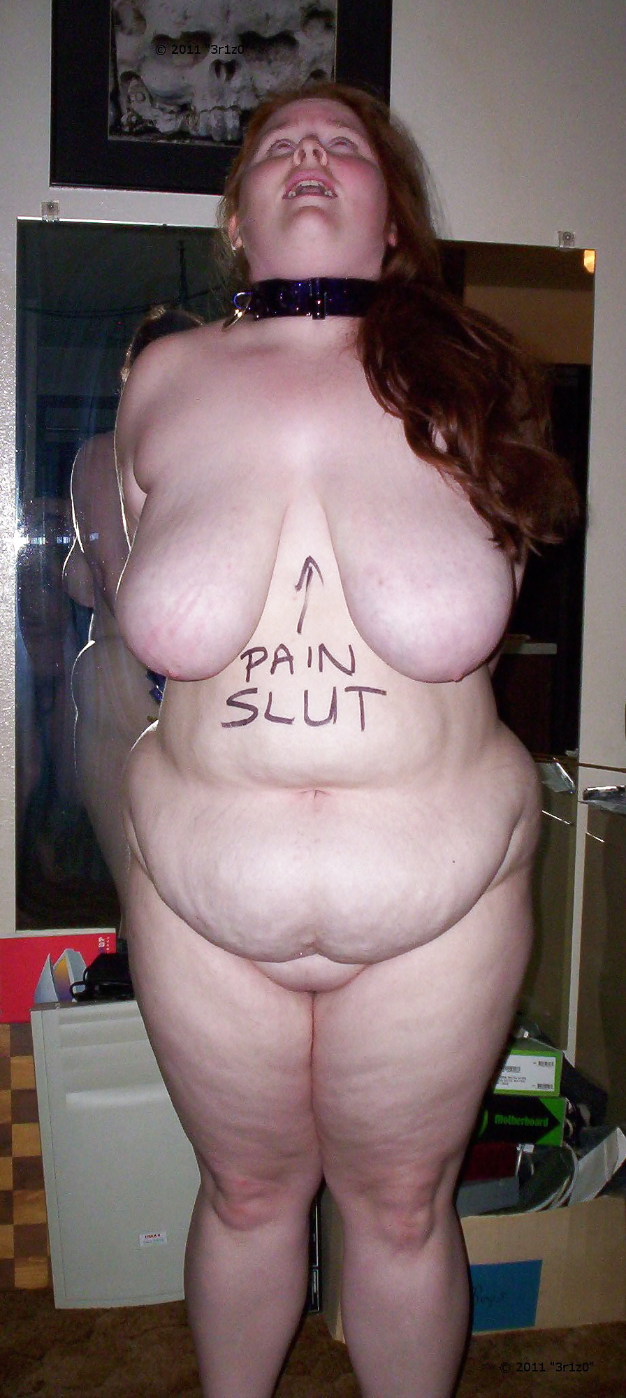 And fingering fat piggy slut