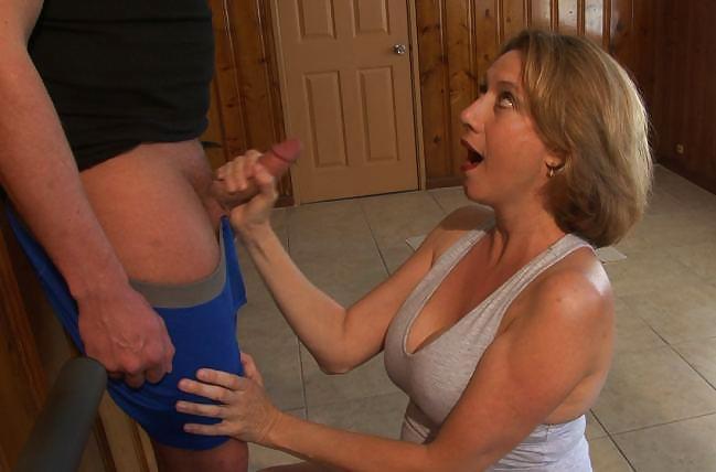 Step Mom Jerking Off Step Son