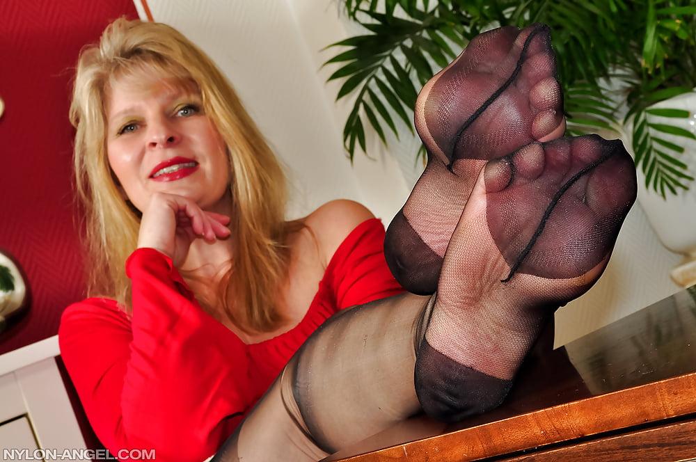 Mature, Feet, Nylon