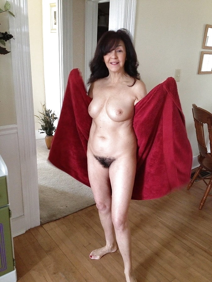 Natural hairy naked wife #6