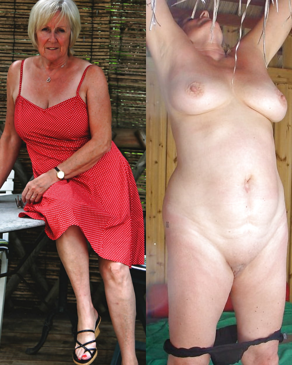 Grannies undressing naked — pic 2