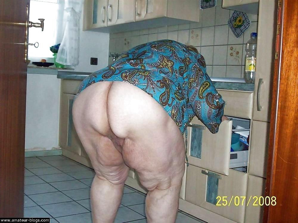Fat woman in bikini image