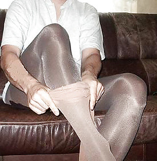 Stuffing pantyhose in her