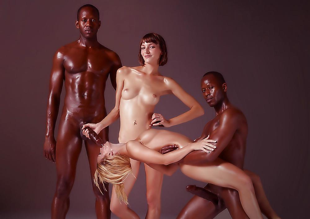 Hot sex interracial artistic sex photo