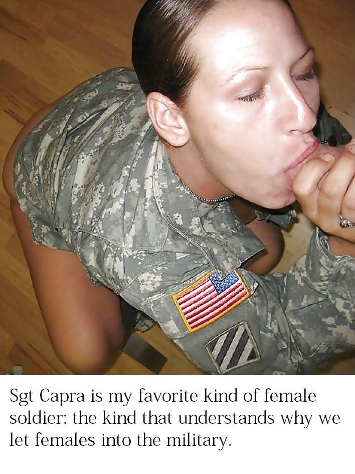 Military Girl Sucks Big Black Cock