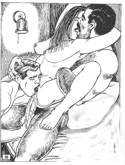 Рисованная порно жена