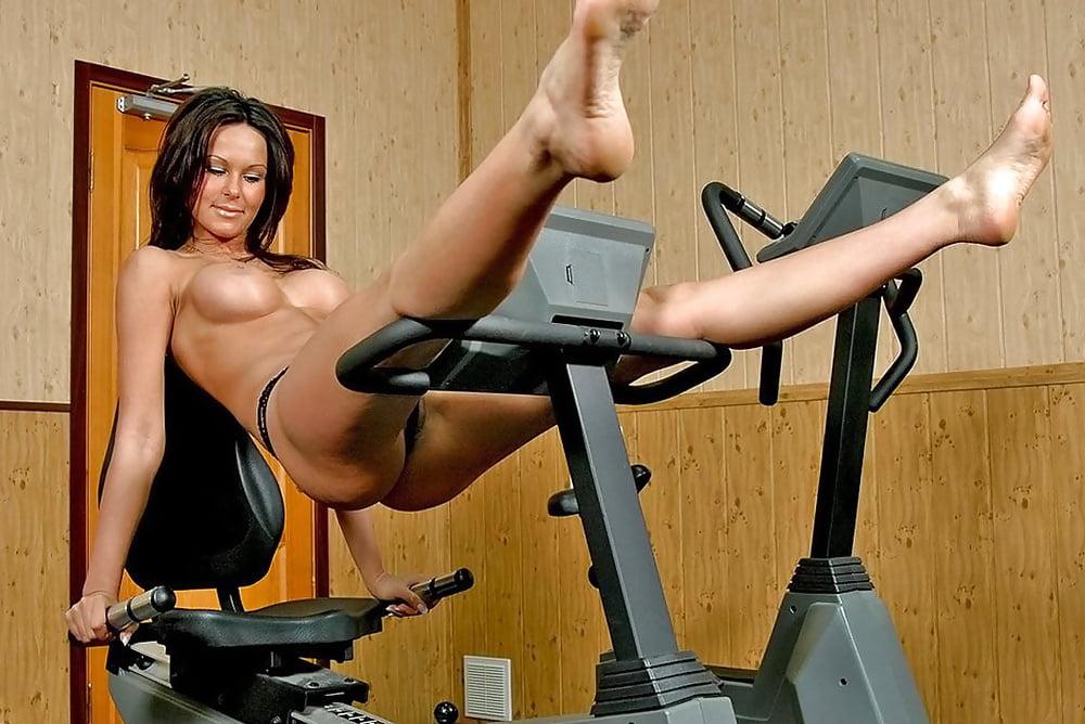 Wife naked girls on exercise equipment