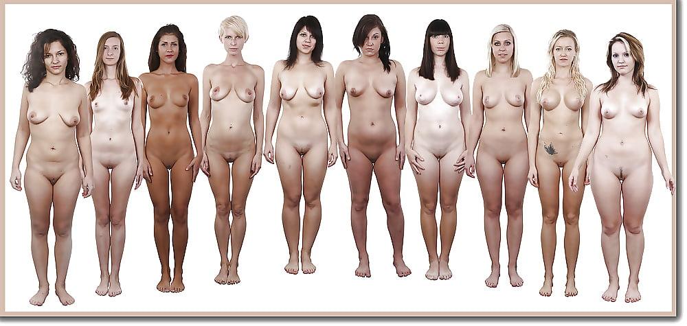 Фото голые женщины стоят в ряд, грудастую нимфоманку развели