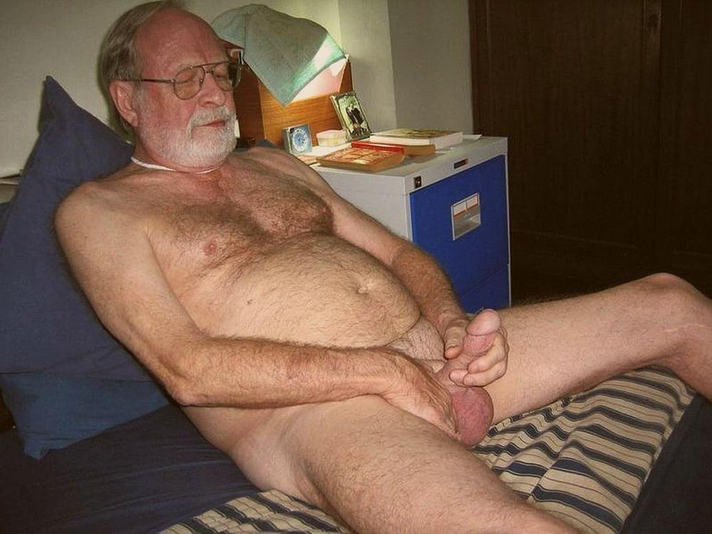 Naked old man image
