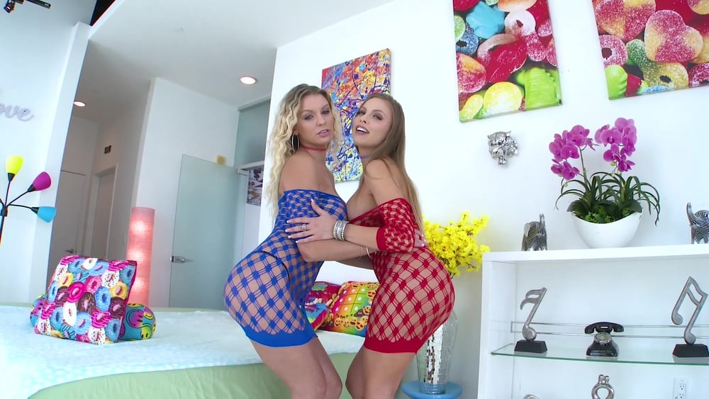 Busty Blondes Kenzie Taylor and Britney Amber Suck Him Off i - 86 Pics