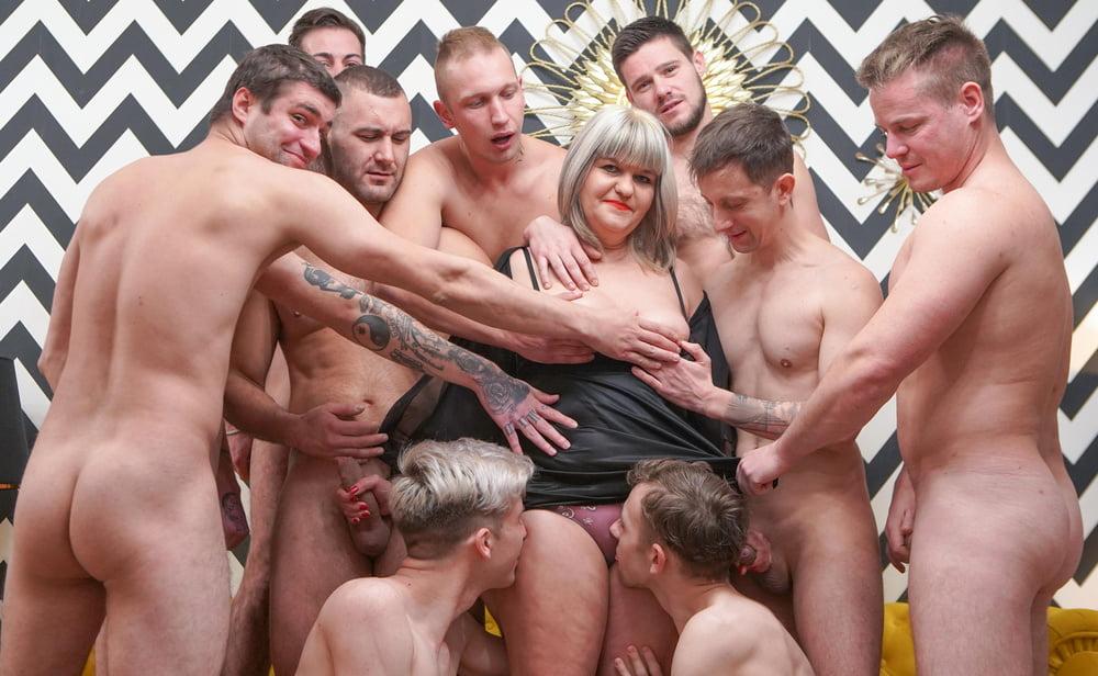 Granny's First GangBang at GrandMams - 13 Pics