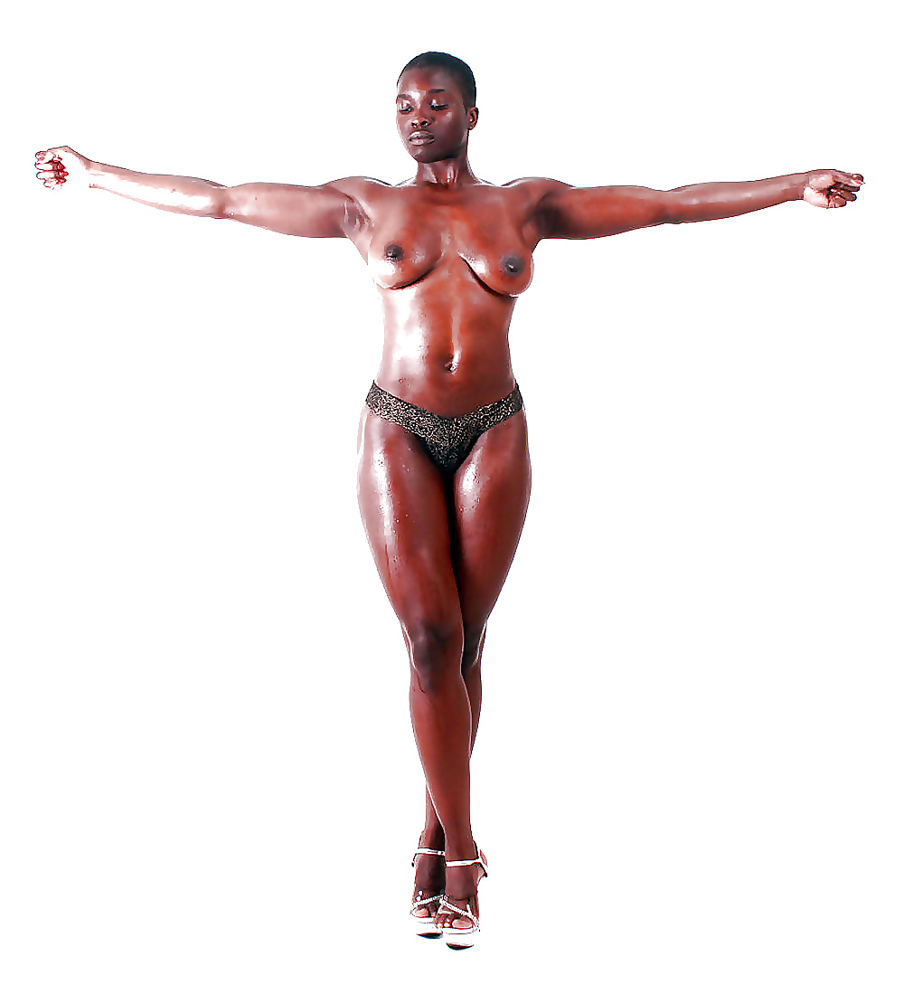 Strong naked black woman