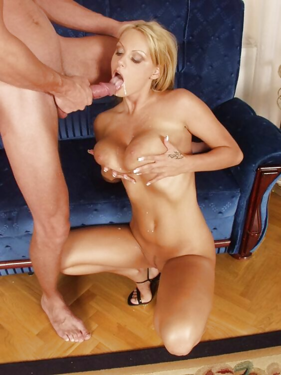 Blonde with big tits getting fucked