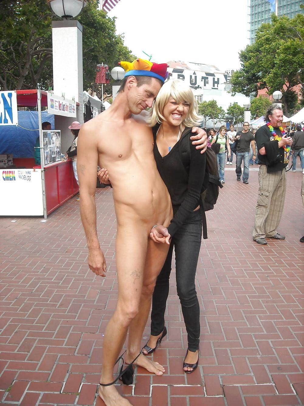 Naked man wife women