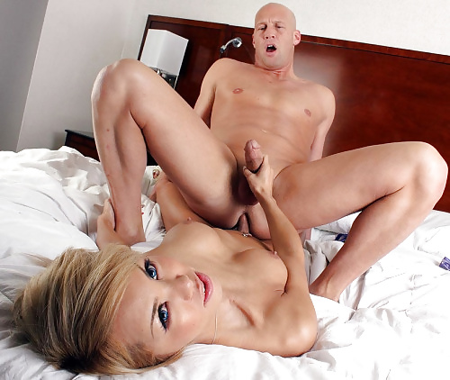 Passionate Grey Haired Tgirl Barebacking A Dude 1