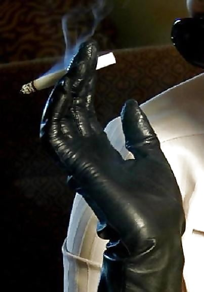 Light leather glove sex booty dominant women