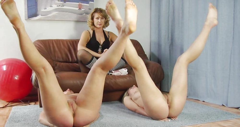 Nude gymnast