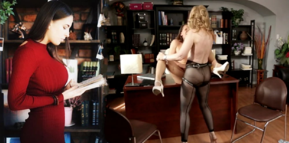 Lesbians in the office porn