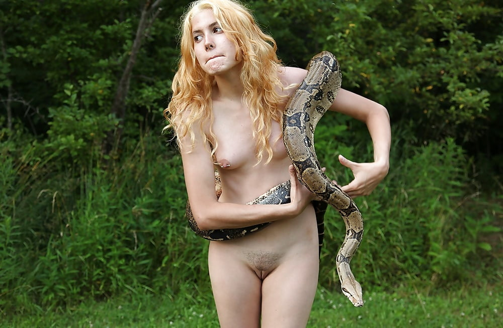 adult nude women snakes