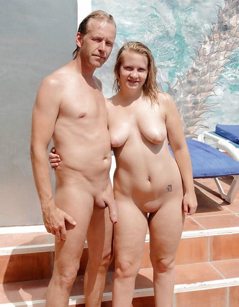 Nude mature in public