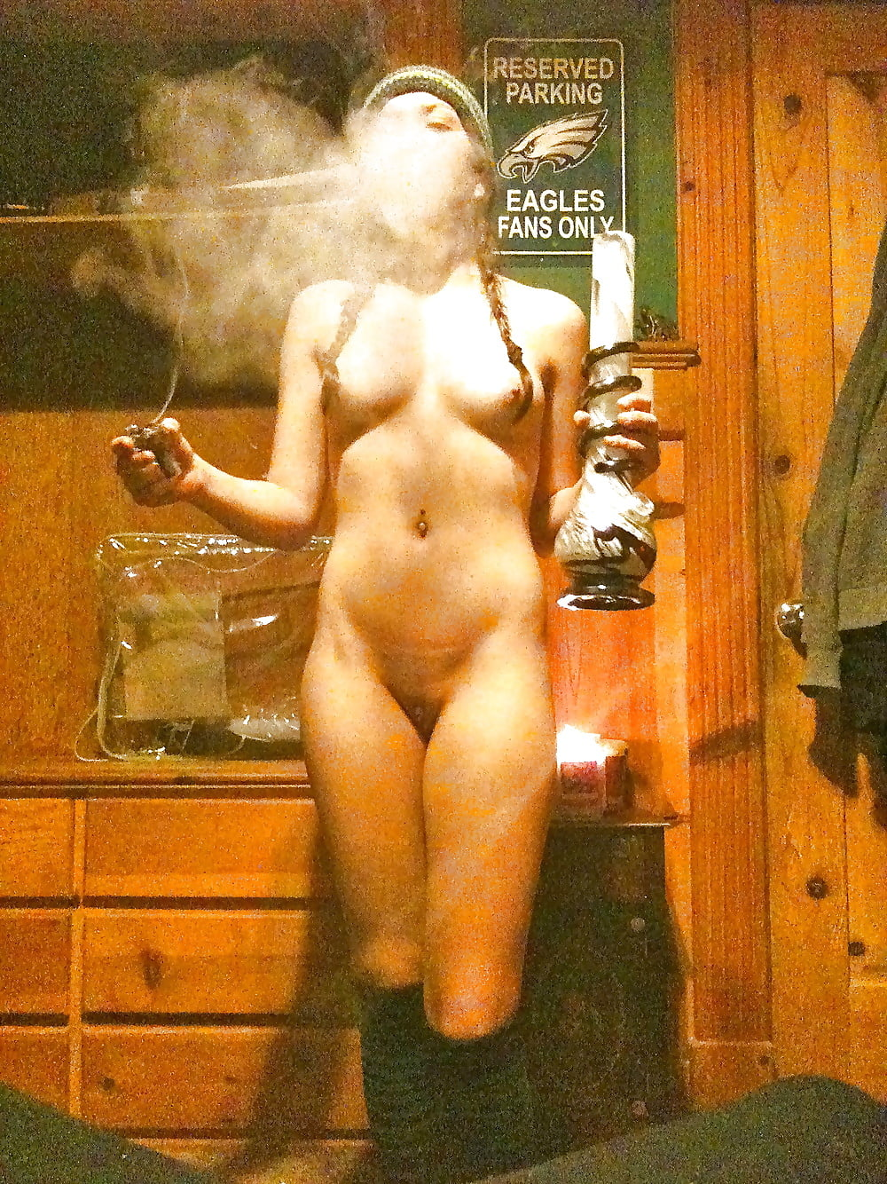 Smoking weed after a shower