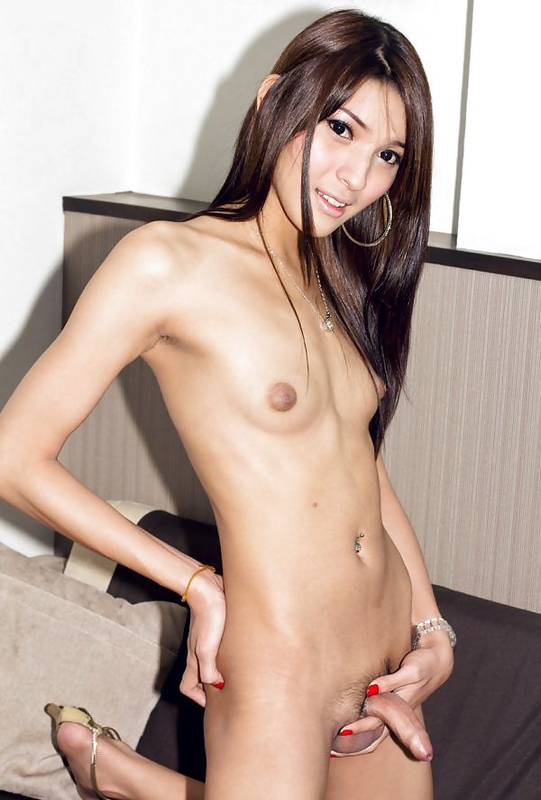 Cute skinny girl lady boy naked — pic 4