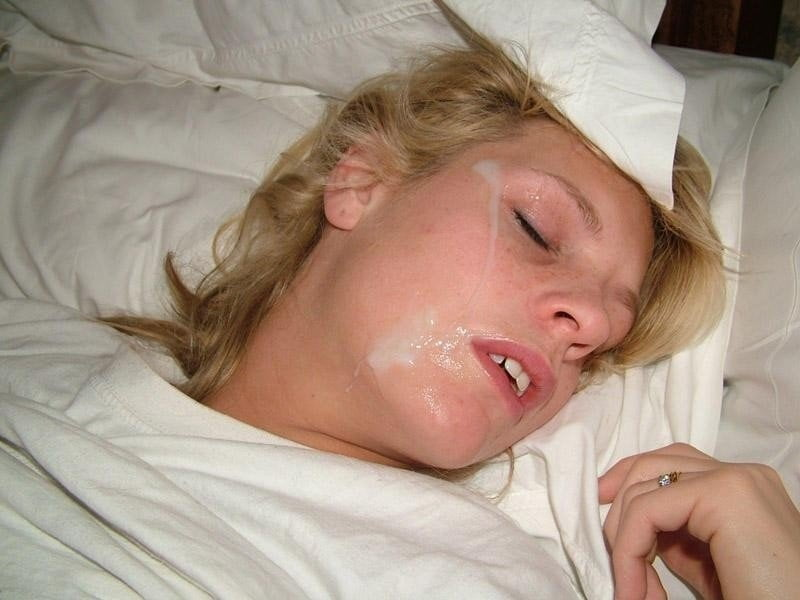 Passed out cum on face