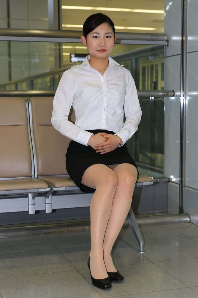 Office women in pantyhose