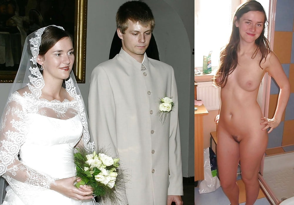 Dressed Undressed Nude Brides Before After