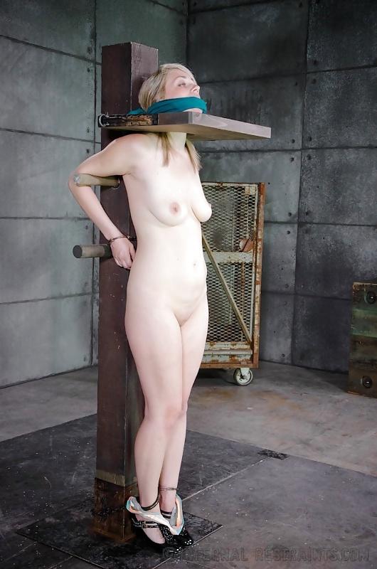 Naked Pole Bondage