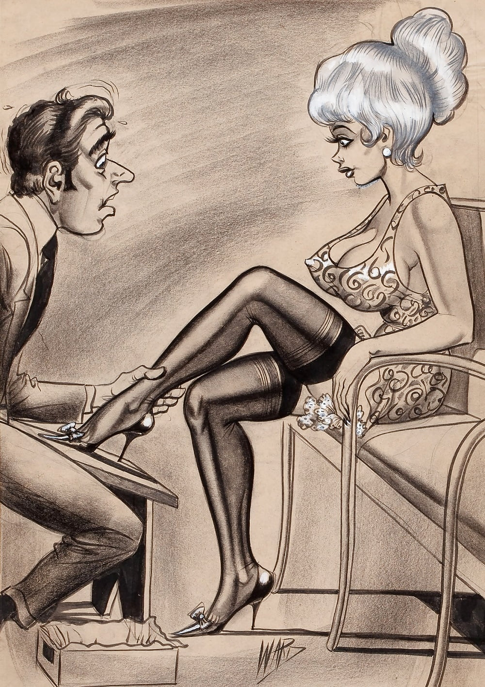 Erotic strip cartoons