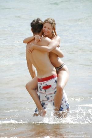 Ashley Benson Topless Beach