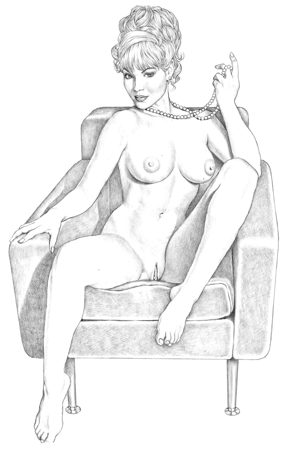 pencil-drawings-porn-women
