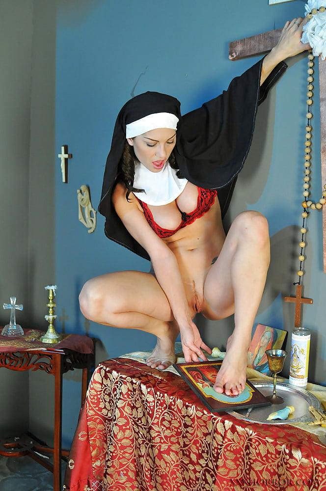 Bbw, nun, blasphemy, crucifix